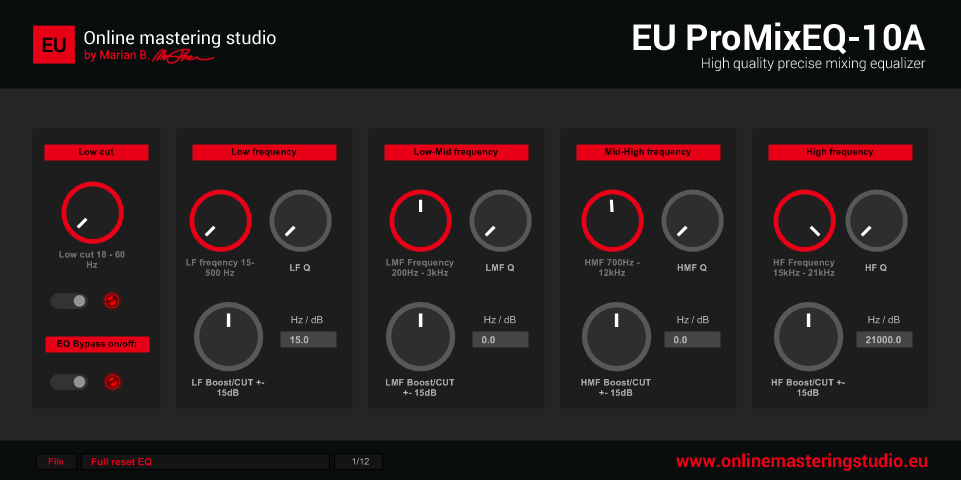 EU ProMixEQ-10A VST Freeware mixing equalizer